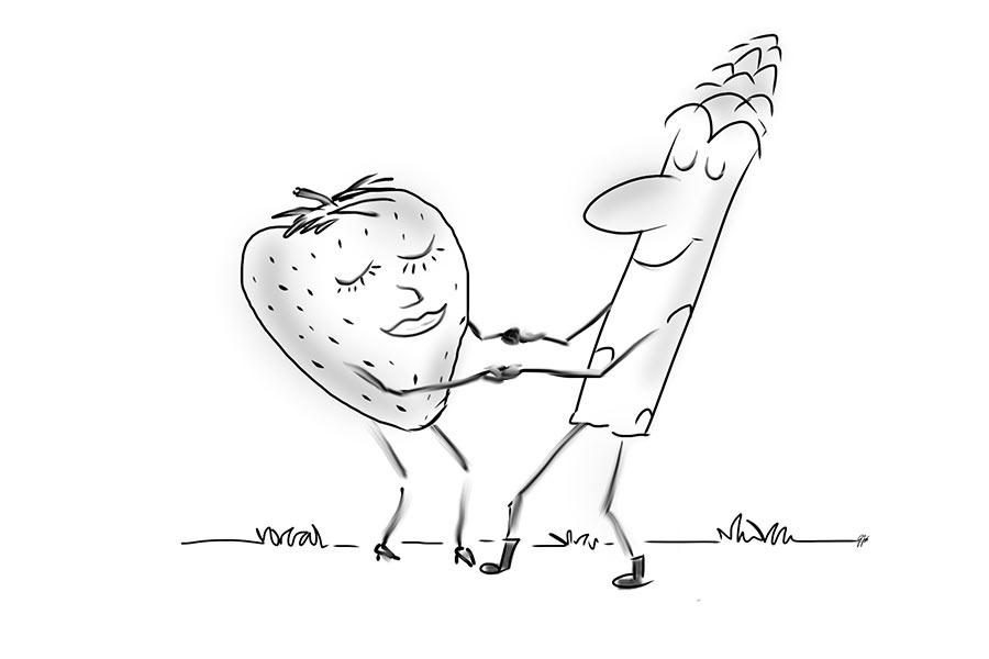 Spargel-Erdeber Salat Gunzemännchen Amrum